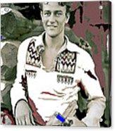 John Wayne In Buckskins The Big Trail 1930-2013 Acrylic Print