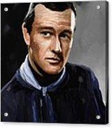 John Wayne In Stagecoach Acrylic Print by Robert Wheater