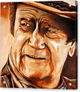 John Wayne Acrylic Print by Jake Stapleton