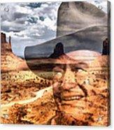 John Wayne Monument Valley Acrylic Print