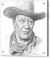 John Wayne Pencil Portrait Acrylic Print