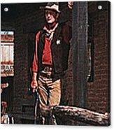 John Wayne Porch Of His Sheriff's Office Rio Bravo  Old Tucson Arizona 1959-2013 Acrylic Print