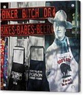 John Wayne The Conqueror 1956 Cardboard Cut-out With Apron Cave Creek Arizona 2004 Acrylic Print