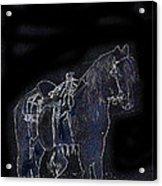 John Wayne The Horse Soldiers 1959 Homage #1 C.1880 Horse And Saddle-2009 Acrylic Print