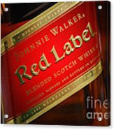 Johnnie Walker Red Acrylic Print