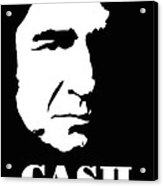 Johnny Cash Black And White Pop Art Acrylic Print