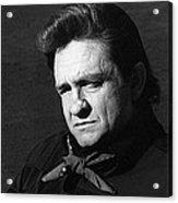 Johnny Cash Close-up The Man Comes Around Music Homage Old Tucson Az  Acrylic Print