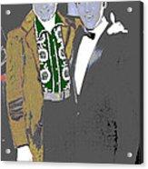 Johnny Cash  Elvis Presley Backstage Memphis Tn  Photographer Unknown  Acrylic Print