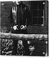 Johnny Cash Gunslinger Hitching Post Old Tucson Arizona 1971  Acrylic Print