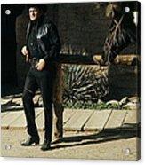 Johnny Cash Horse Old Tucson Arizona 1971 Acrylic Print