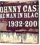 Johnny Cash Memorial Acrylic Print
