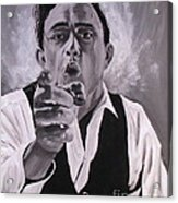Johnny Cash Portrait Acrylic Print