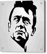 Johnny Cash Poster Art Portrait Acrylic Print