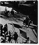 Johnny Cash Riding Horse Filming Promo Main Street Old Tucson Arizona 1971 Acrylic Print
