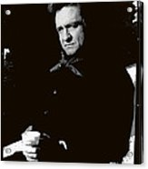Johnny Cash Sitting With Cup  Old Tucson Arizona 1971-2009 Acrylic Print