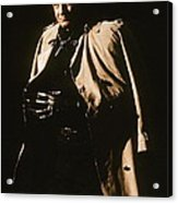 Johnny Cash Trench Coat  Sepia Variation Old Tucson Arizona 1971 Acrylic Print