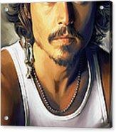 Johnny Depp Artwork Acrylic Print
