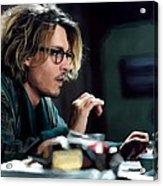 Johnny Depp as Mort Rainey @ Secret Window Acrylic Print