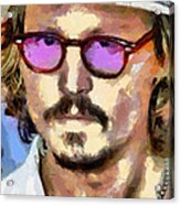 Johnny Depp Actor Acrylic Print