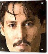 Johnny Depp Portrait Acrylic Print