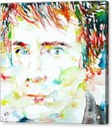 Johnny Rotten - Watercolor Portrait Acrylic Print