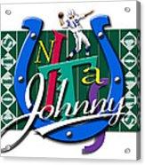 Johnny Unitas Baltimore Colts Acrylic Print by Ron Regalado