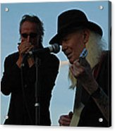 Johnny Winter And James Montgomery Playing The Blues Acrylic Print