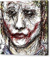 Joker - Interrogation Acrylic Print by Rachel Scott