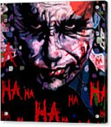 Joker Acrylic Print by Jeremy Scott