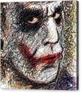 Joker - Pout Acrylic Print by Rachel Scott