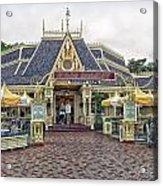 Jolly Holiday Cafe Main Street Disneyland 01 Acrylic Print