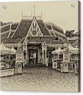 Jolly Holiday Cafe Main Street Disneyland Heirloom Acrylic Print