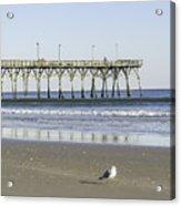 Jolly Roger Pier On Topsail Beach Nc Acrylic Print