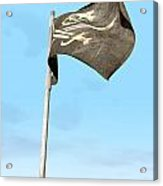 Jolly Roger Pirate Flag Far Acrylic Print