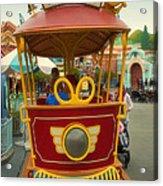 Jolly Trolley Disneyland Toon Town Acrylic Print