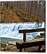 Jones Mill Run Dam Relaxing View Acrylic Print