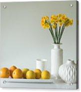 Jonquils And Citrus Acrylic Print