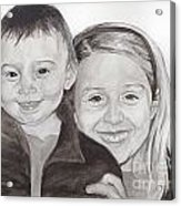 Jordan And Chey Chey Acrylic Print