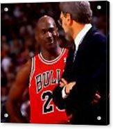 Jordan And Coach Acrylic Print