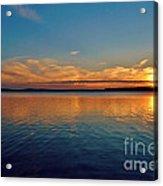 Jordan Lake Sunset 2 Acrylic Print by Kelly Nowak