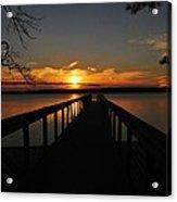 Jordan Lake Sunset Acrylic Print