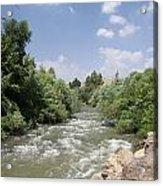 Jordan River  Acrylic Print by Rita Adams