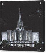 Jordan River Utah Lds Temple Acrylic Print