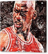 Jordan The Best Acrylic Print by Victor Arriaga