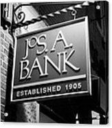 Jos. A. Bank Acrylic Print