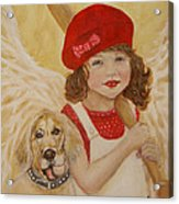 Joscelyn And Jolly Little Angel Of Playfulness Acrylic Print by The Art With A Heart By Charlotte Phillips