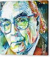 Jose Saramago Portrait Acrylic Print