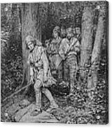 Joseph Brown Leading His Company To Nicojack, The Stronghold Of The Chickamaugas, Engraved Acrylic Print