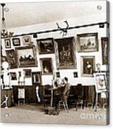 Joseph Kurtz Oliver Artist In His Studio Monterey Circa 1905 Acrylic Print