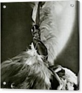 Josephine Baker Wearing A Feathered Cape Acrylic Print
